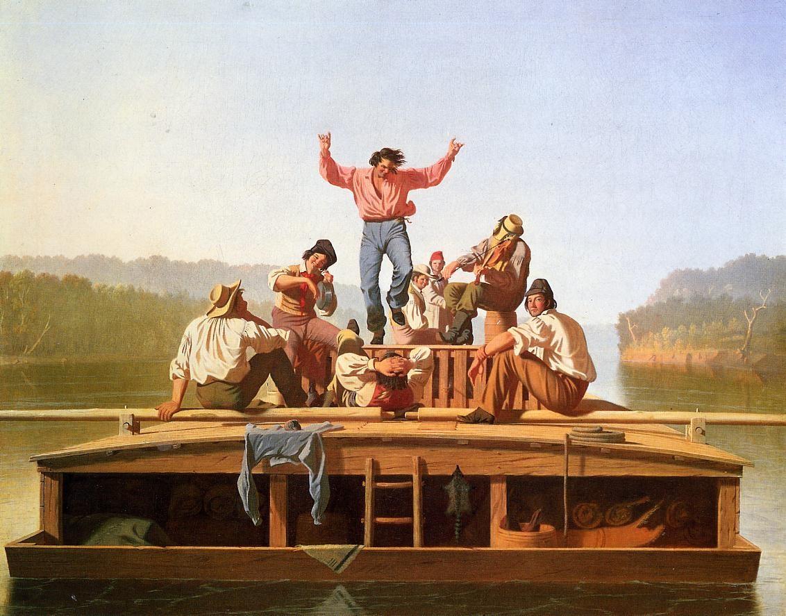 George Caleb Bingham The Jolly Flatboatmen