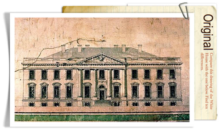 Elevation of the North Side of the White House by James Hoban