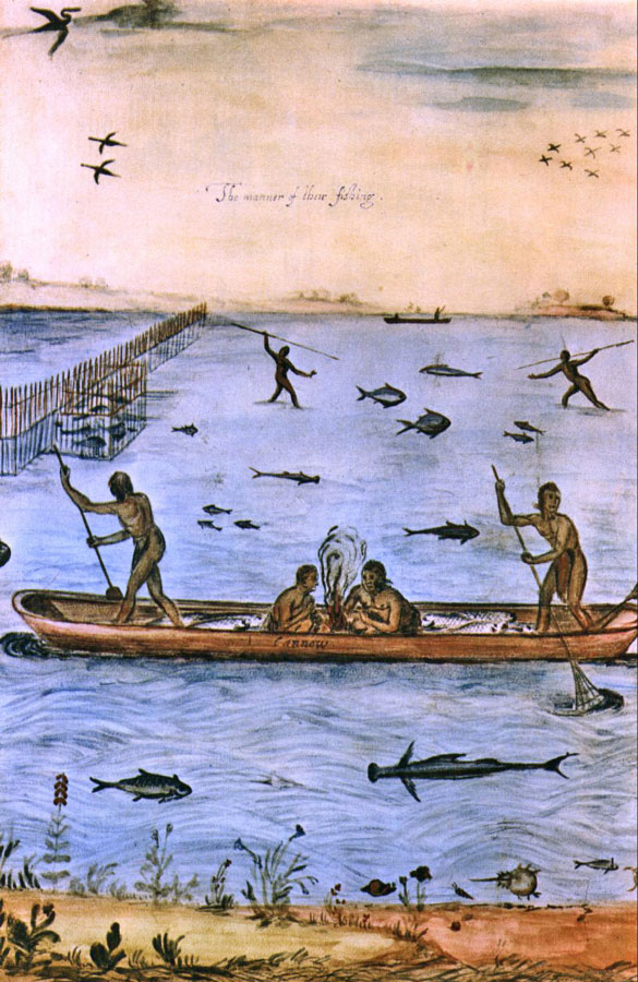 Indians Fishing by John White