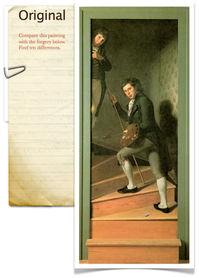 The Staircase Group by Charles Willson Peale