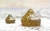Haystacks, (Snow Effect) 1890-91. National Gallery of Scotland, Edinburgh, Scotland.
