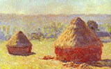 Haystacks, End of Summer, (Morning Effect) 1890-91. Oil on canvas, 60.5 cm x 100.8 cm. Musée d'Orsay, Paris, France.