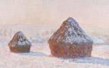 Wheatstacks, Snow Effect, (Morning) 1890-91. Oil on canvas. J. Paul Getty Museum, Los Angeles, California.