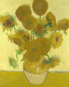 Sunflowers fourth version: yellow background, Oil on canvas, 92.1 × 73cm National Gallery, London, England
