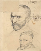 Self-Portraits, Paris, Autumn 1886, pencil on paper, 31.5 x 24.5cm, Van Gogh Museum, Amsterdam 1