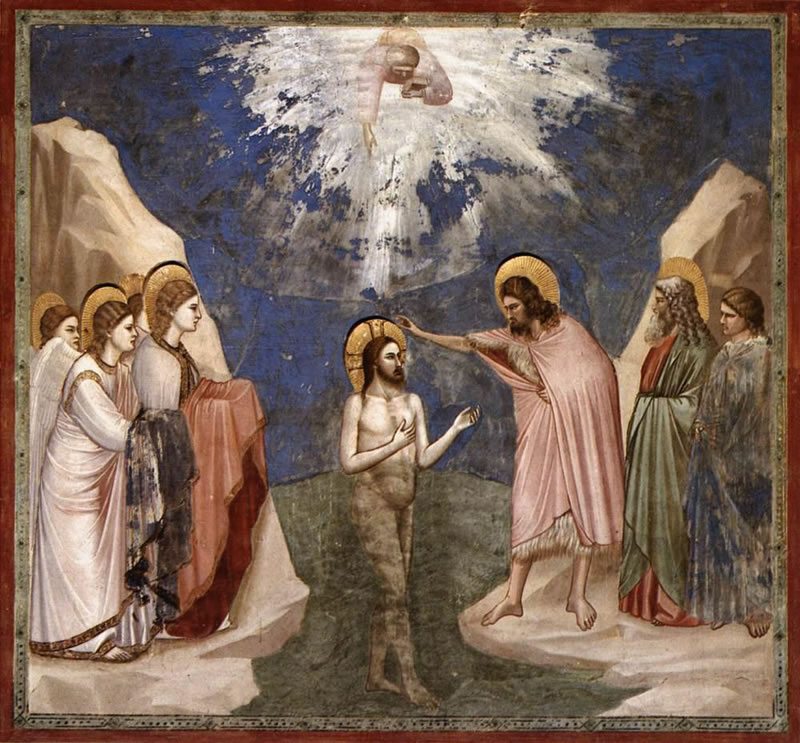 Baptism of Christ - Giotto