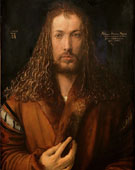 Albrecht Dürer (1471–1528), Self-portrait, 1500, oil on panel, 67 × 49 cm (26.4 × 19.3 in)