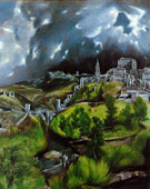 View of Toledo, El Greco (1541–1614), 1596 - 1600, oil on cavas, 121.3 × 108.6 cm (47.8 × 42.8 in)