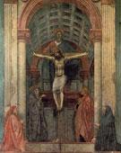 Holy Trinity, Masaccio (1401–1428), 667 × 317 cm (262.6 × 124.8 in), fresco, 1425 - 1428