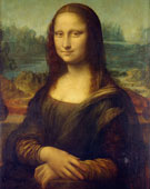 Mona Lisa, Leonardo da Vinci (1452–1519), 77 cm × 53 cm (30 in × 21 in), oil on poplar wood, 1503 - 1506