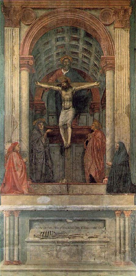 Holy TrinityMasaccio (1401–1428)667 × 317 cm (262.6 × 124.8 in)fresco1425 - 1428