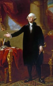 George Washington (The Lansdowne Portrait) by Gilbert Stuart