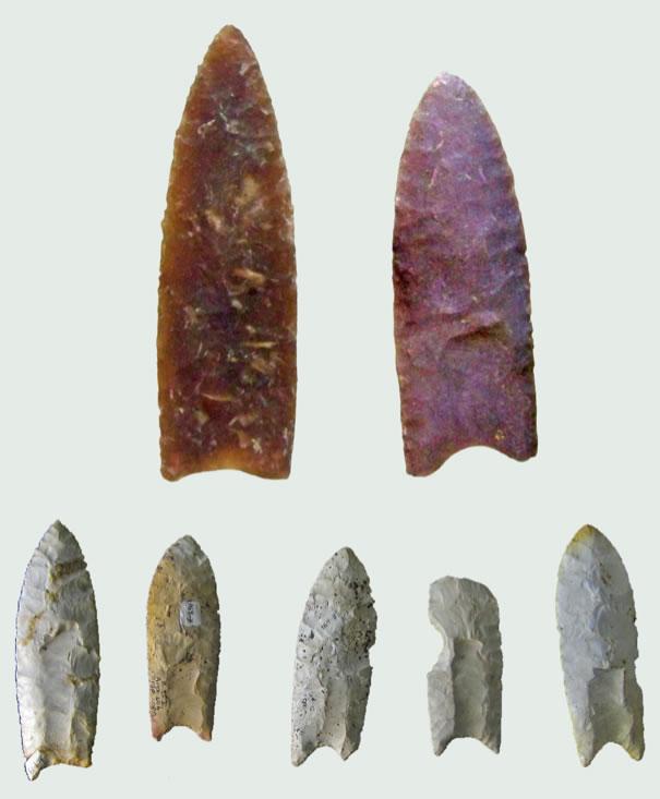 Clovis CultureClovis Spear Points10,000 B.C.Fluted stone
