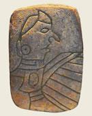 Mississippian Mound Builder culture, The Birdman Tablet, 1300, Carved sandstone