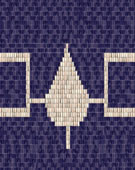Iroquois Culture, Hiawatha Wampum Belt, Original made of shell and sinew