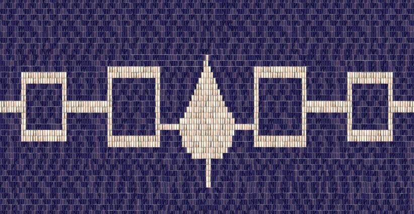 Iroquois CultureHiawatha Wampum BeltOriginal made of shell and sinew