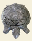 Taino Culture, Taino Turtle, 1200-1492, Originals made of diorite, This statue is a reproduction