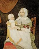 Freake Painter, Elizabeth Clarke Freake, (Mrs. John Freake) and Baby Mary, 1671 and 1674, Oil on canvas, 42 1/2 x 36 3/4