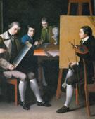 Matthew Pratt, 1734-1805, The American School, 1765, Oil on canvas, 36 x 50 1/4