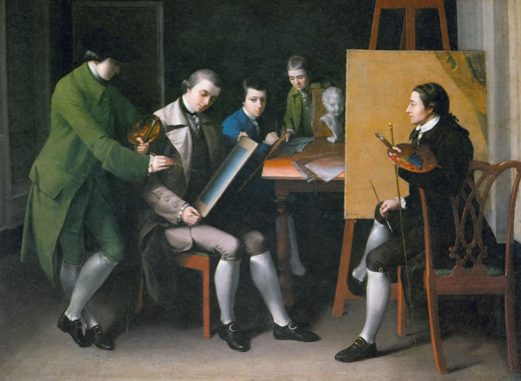 Matthew Pratt1734-1805The American School1765Oil on canvas36 x 50 1/4