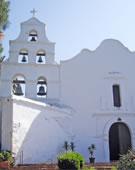 Mission San Diego de Alcala, begun 1774, San Diego, California