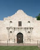 Mission San Antonio de Valero, (The Alamo), begun 1758, San Antonio, Texas