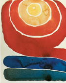 Georgia O'Keeffe, 1887-1986, Evening Star III, 1917, Watercolor on paper, 8 7/8 x 11 7/8 in.