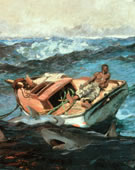 Winslow Homer, 1836-1910, The Gulf Stream, 1899, Oil on canvas, 28 1/8 x 49 1/8 in.