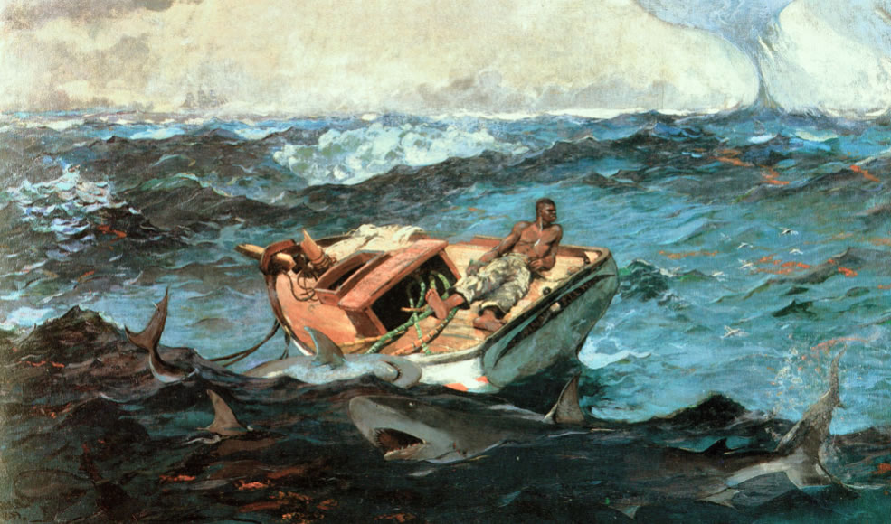 Winslow Homer1836-1910The Gulf Stream1899Oil on canvas28 1/8 x 49 1/8 in.