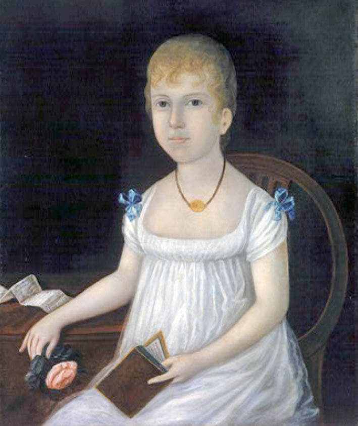 Joshua Johnson  Adelina Morton  1810  Oil on canvas  24 3/16 x 20 1/4 in.