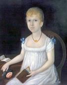 Joshua Johnson,   Adelina Morton,   1810,   Oil on canvas,   24 3/16 x 20 1/4 in.