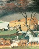 Edward Hicks,   Noah's Ark,   1846,   Oil on canvas,   26 5/16 x 30 3/8 in.