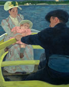 Mary Cassatt, 1844-1926, The Boating Party, 1893-94, Oil on canvas, 35 7/16 x 46 3/16 in.