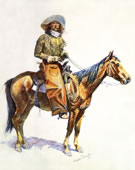 Frederic Remington 1861 - 1909, Arizona cow-boy, Lithograph, 1901