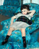Mary Cassatt, 1844-1926, Little Girl in a Blue Armchair, 1878, Oil on canvas, 35 1/4 x 51 1/8 in.
