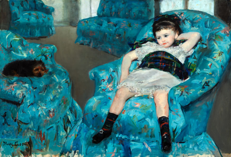 Mary Cassatt1844-1926Little Girl in a Blue Armchair1878Oil on canvas35 1/4 x 51 1/8 in.