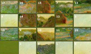 A Claude Monet Haystack Puzzle