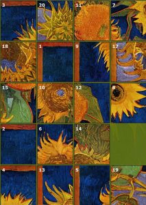 Van Gogh Sunflowers Puzzle